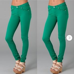 Flying Monkey Womens Green Skinny Jeans 9